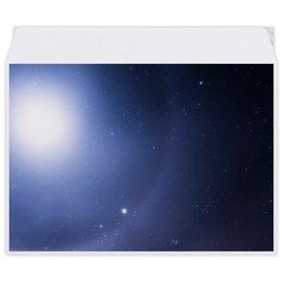 """Конверт средний С5 """"Без названия"""" - космос, небо, луна, звёзды, галактика"""