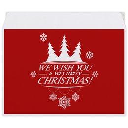 """Конверт средний С5 """"Merry X-mas"""" - рождество, новый год, merry xmas"""