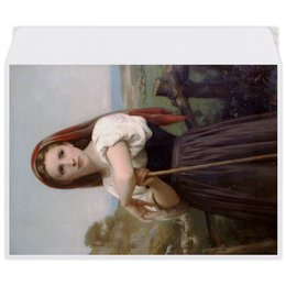 "Конверт средний С5 ""Юная пастушка (картина Вильяма Бугро)"" - картина, академизм, живопись, бугро, крестьянка"