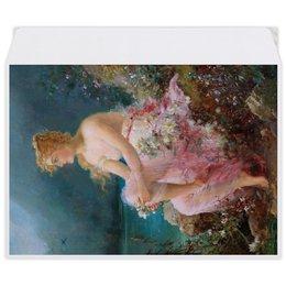 """Конверт средний С5 """"Водяные лилии (картина Ханса Зацка)"""" - цветы, картина, живопись, зацка"""