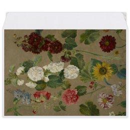 """Конверт средний С5 """"Цветы (картина Эжена Делакруа)"""" - цветы, картина, живопись, делакруа, романтизм"""
