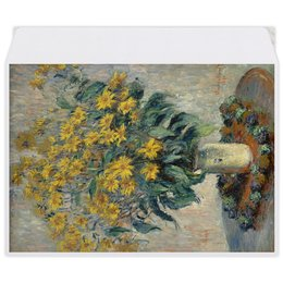 "Конверт средний С5 ""Топинамбур (картина Клода Моне)"" - цветы, картина, импрессионизм, живопись, моне"