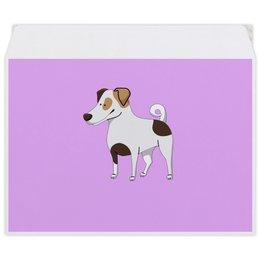 """Конверт средний С5 """"ДЖЕК РАССЕЛ.СОБАКА"""" - майкл джексон, щенок, собака, животное, рассел"""