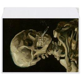 """Конверт средний С5 """"Череп с горящей сигаретой (Винсент Ван Гог)"""" - череп, картина, ван гог, живопись"""