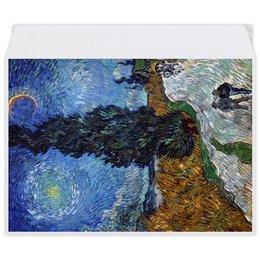 "Конверт средний С5 ""Дорога с кипарисом и звездой (Винсент Ван Гог)"" - картина, ван гог, живопись"