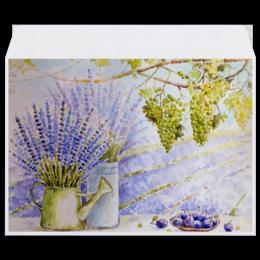 """Конверт средний С5 """"Лавандовый прованс"""" - цветы, рисунок, лаванда, прованс"""