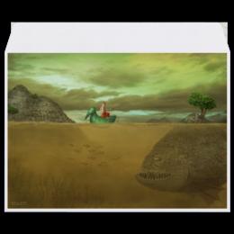 """Конверт средний С5 """"Наживка"""" - картина, сказка, рыба, фантазия, рыбалка"""