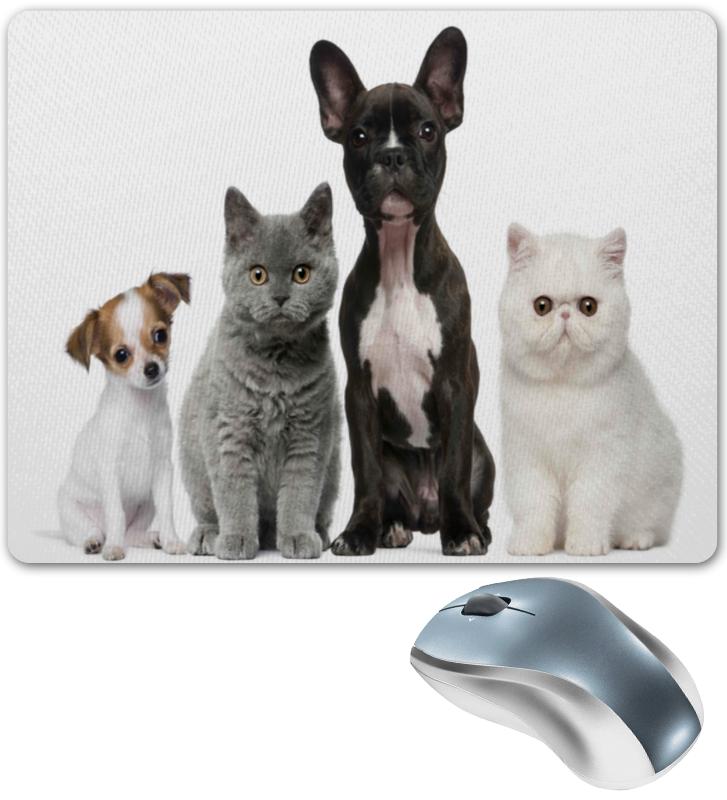 Коврик для мышки Printio Собаки и кошки для кошки