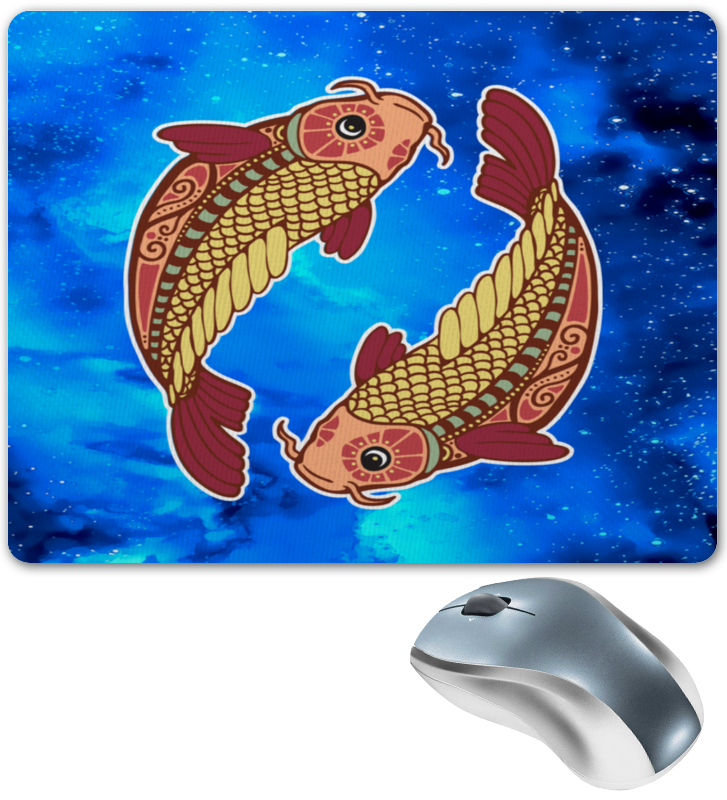 Коврик для мышки Printio Зодиак-рыбы каталог oks by oksana demchenko