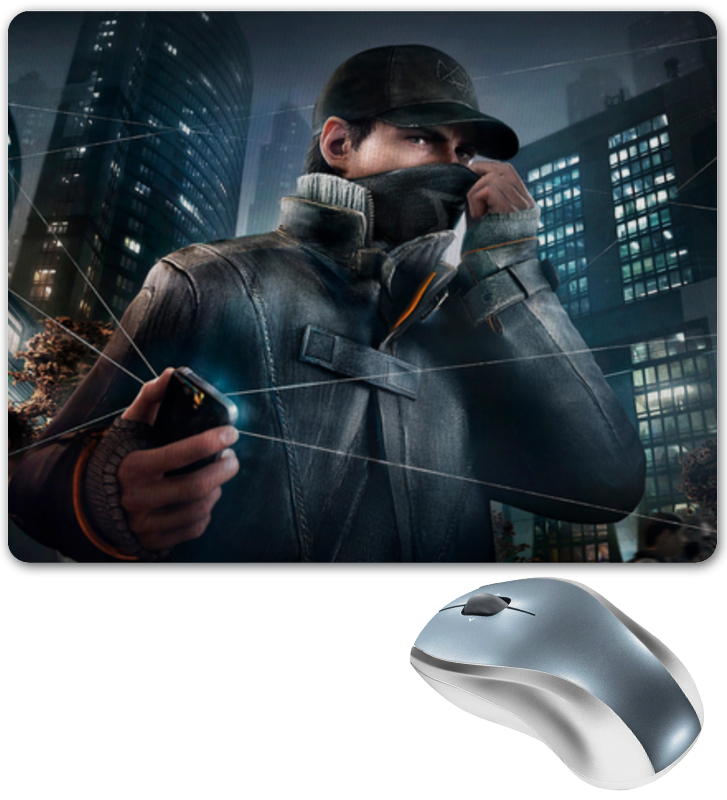 Коврик для мышки Printio Watch dogs watch dogs aiden pearce face mask cap hat set costume video game cosplay cos