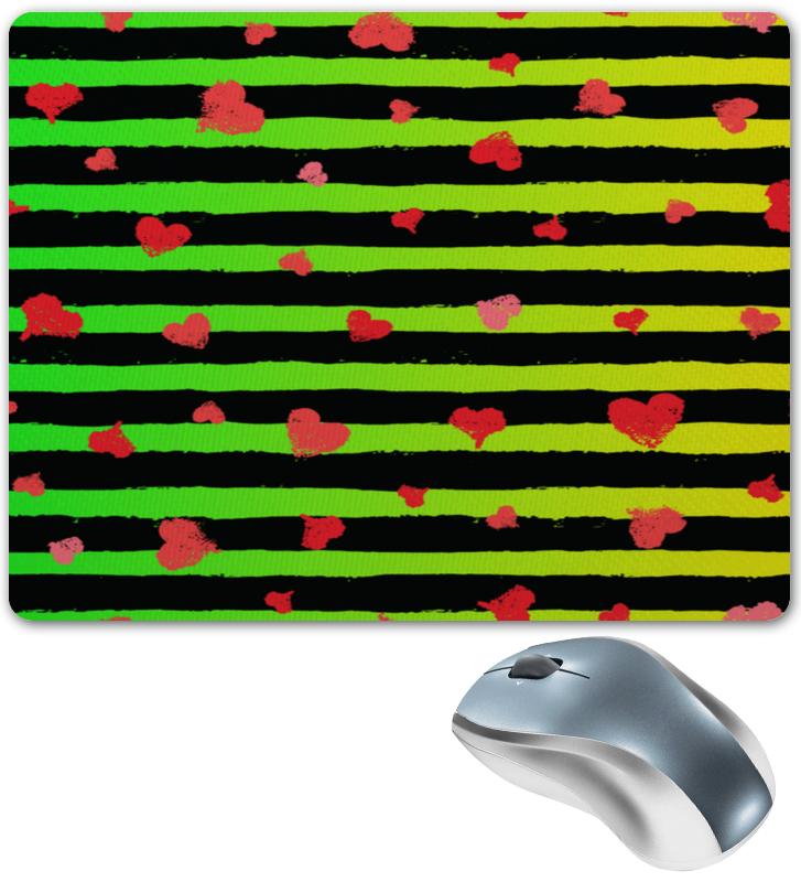 Коврик для мышки Printio Сердечки и линии коврик для мышки printio узор линии