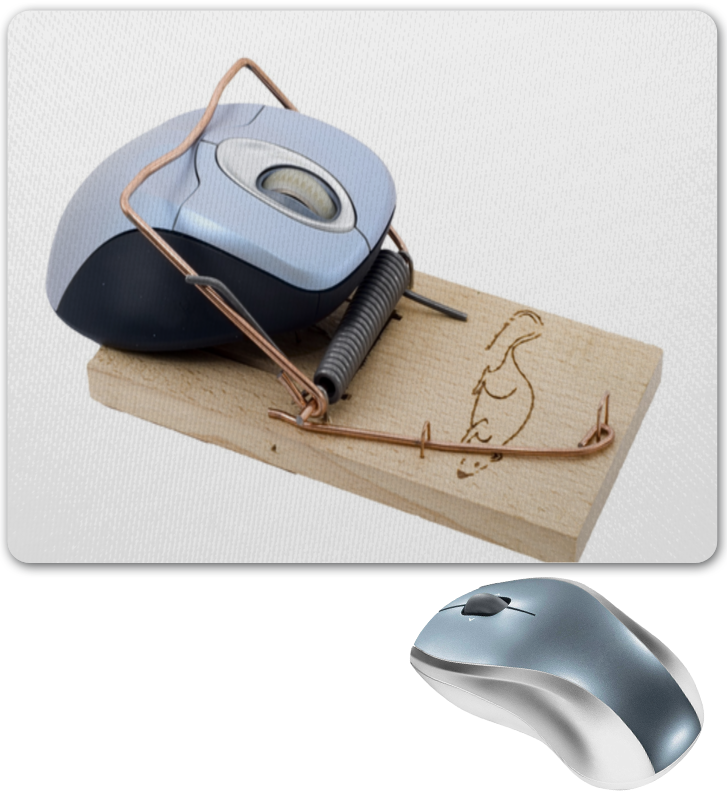 Коврик для мышки Printio Мышка в мышеловке коврик для мышки круглый printio мышка