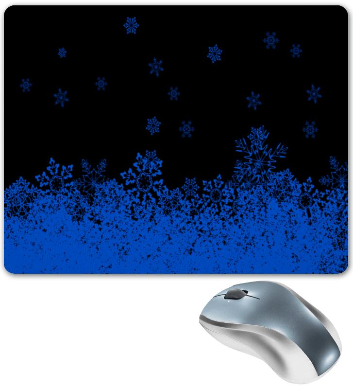 Printio Синие снежинки коврик для мышки printio синие краски