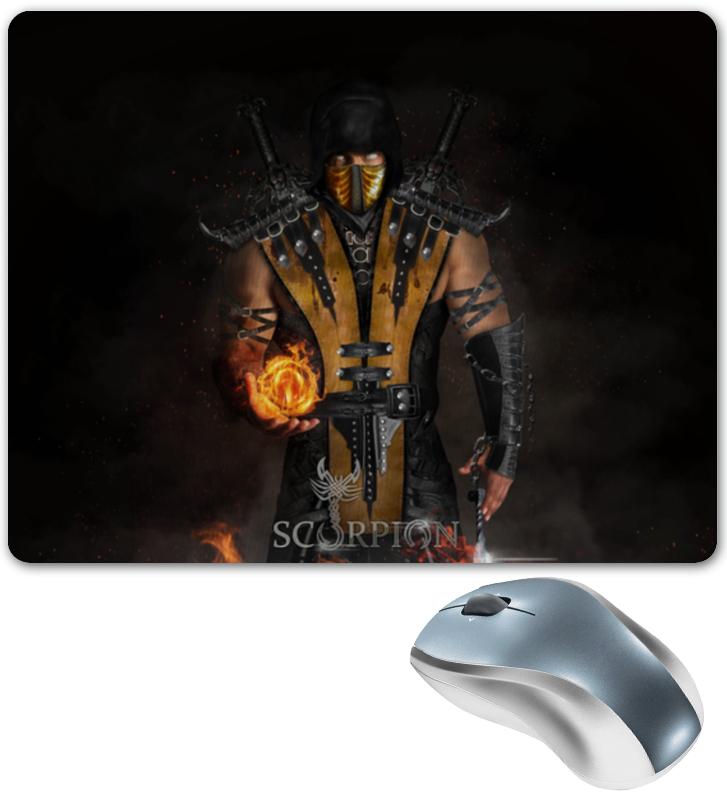 лучшая цена Коврик для мышки Printio Mortal kombat (scorpion)