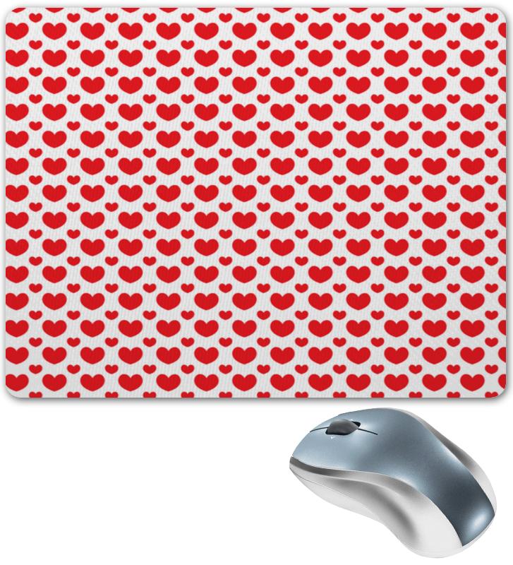 Коврик для мышки Printio Красные сердечки коврик для мышки printio красные лепестки