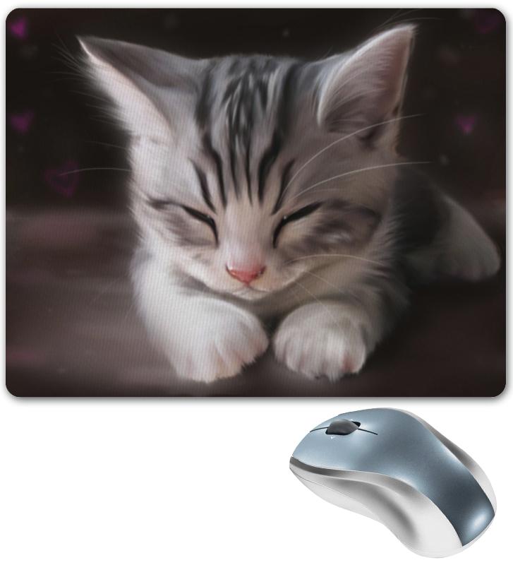 Коврик для мышки Printio Спящий котенок серенький козлик
