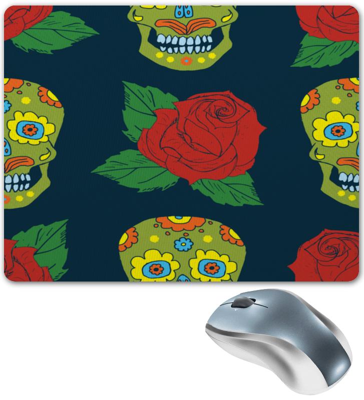 Коврик для мышки Printio Череп и цветок бутсы nike mercurial victory iii fg 509128 800