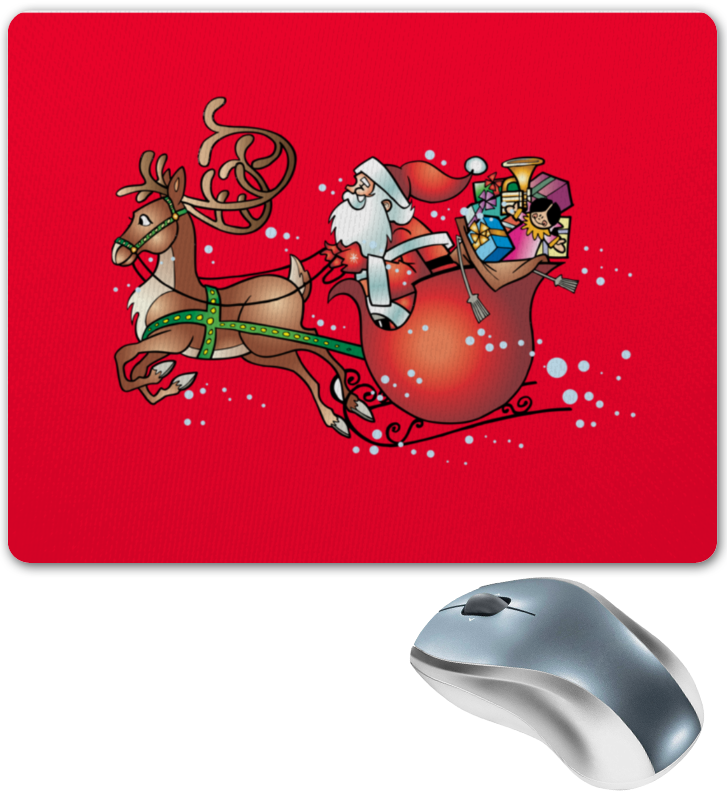 Коврик для мышки Printio Новогодние сани