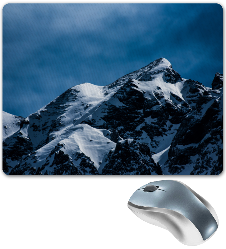 Коврик для мышки Printio Снег в горах коврик для мышки printio река в горах