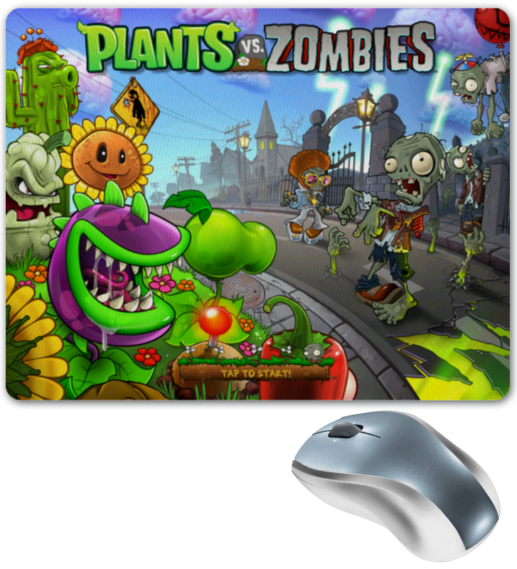 Коврик для мышки Printio Plants vs zombies plants vs zombies 050302 mysterious egypt building bricks blocks anime action figures my world minecraft toys for children gifts