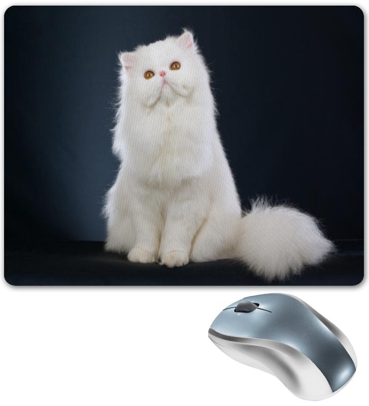 Коврик для мышки Printio Белый кот коврик для мышки printio кот сыр и мышка
