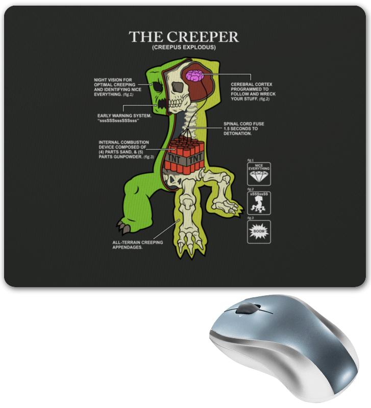Коврик для мышки Printio Крипер. майнкрафт