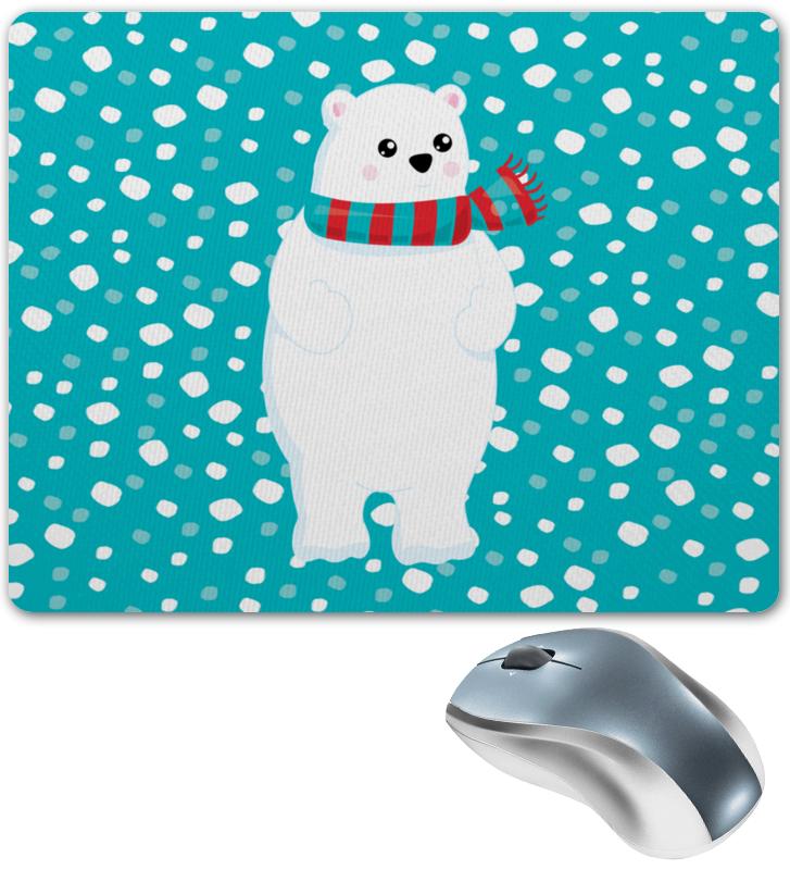 Коврик для мышки Printio Белый медведь цена 2017