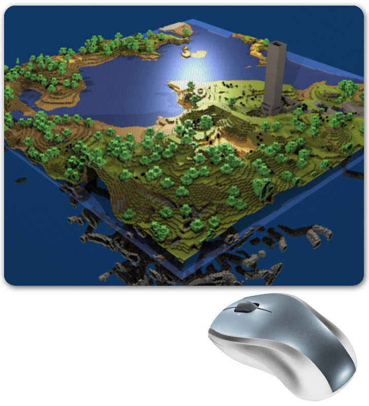 лучшая цена Printio Мир minecraft коврик для мыши