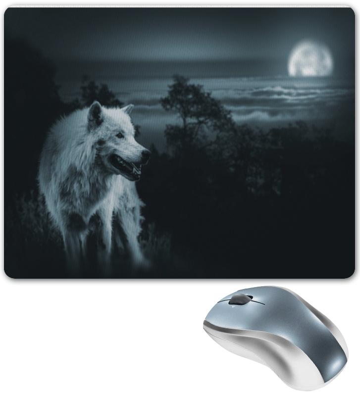 Коврик для мышки Printio Белый волк коврик для мышки круглый printio волк в горах