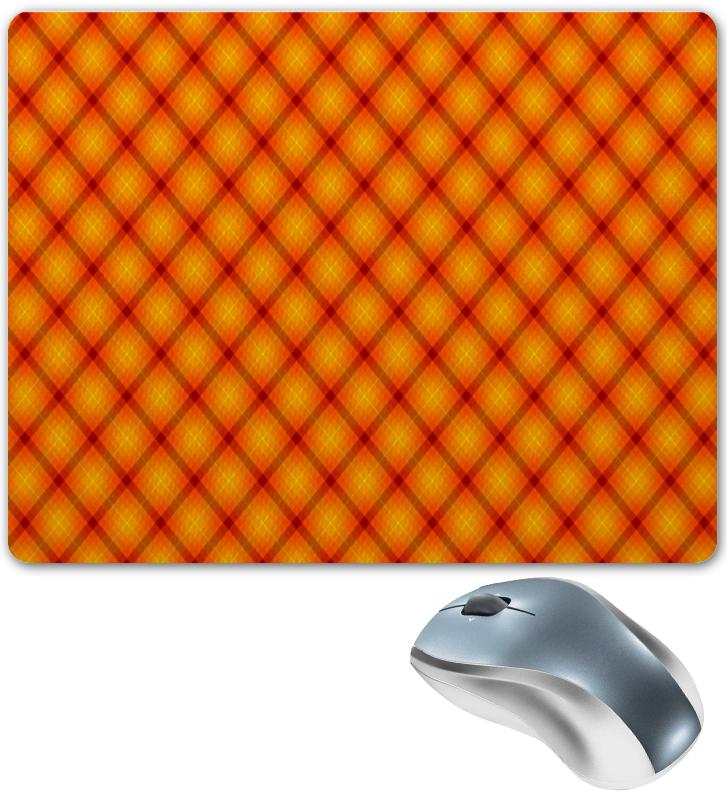 Коврик для мышки Printio Клетка оранжевая