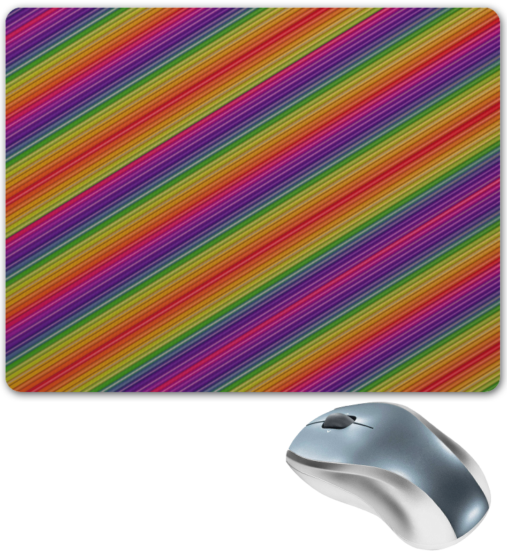 Коврик для мышки Printio Линии радуги коврик для мышки printio узор линии