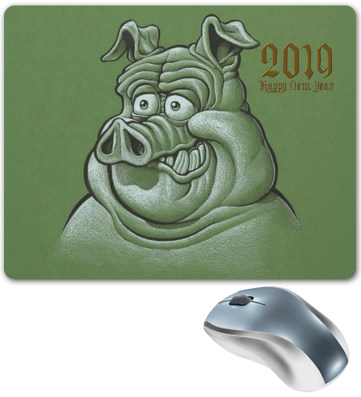Фото - Printio Символ 2019 года коврик для мышки круглый printio веселая свинка символ 2019 года