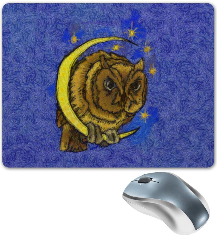 Коврик для мышки Printio Сова на луне сказки дерева подвеска ангел на луне