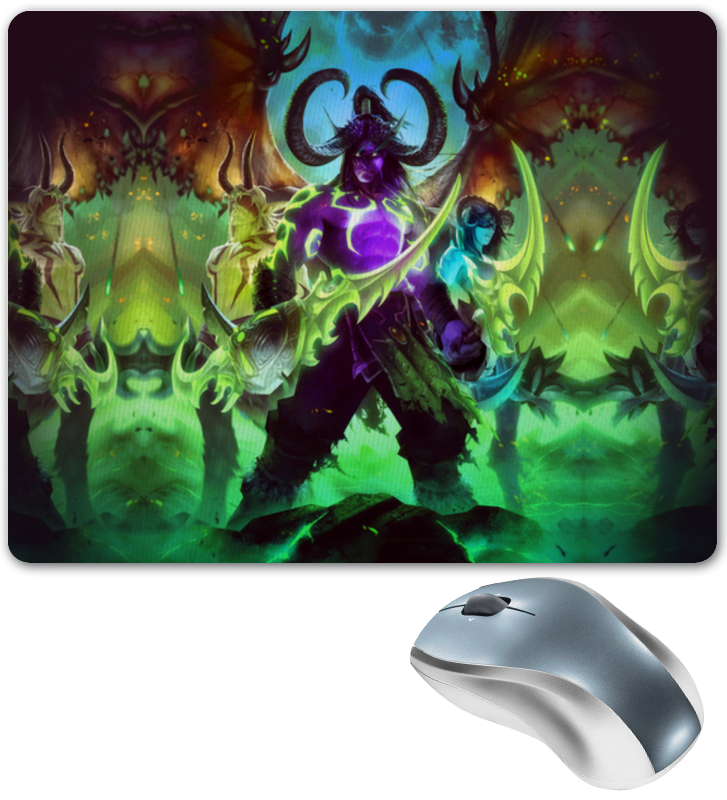 Коврик для мышки Printio Warcraft: illidan