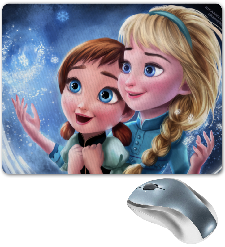 Коврик для мышки Printio Frozen little elsa and anna фабрика демьяновъ коврик в ванну анна силивончик маленькое сердце