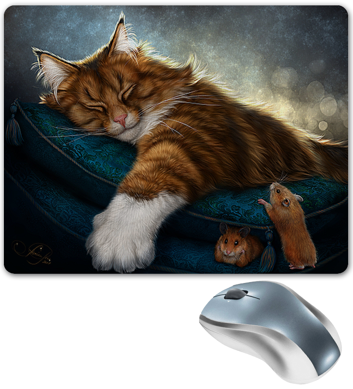 Коврик для мышки Printio Кошки фэнтези кошки мышки 2019 03 14t19 00