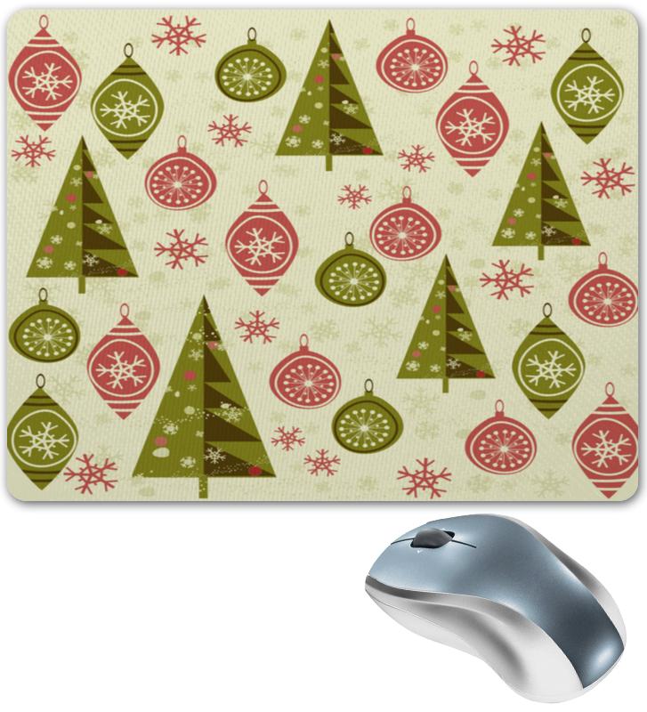 Коврик для мышки Printio Елки и игрушки коврик для мышки printio снежные елки
