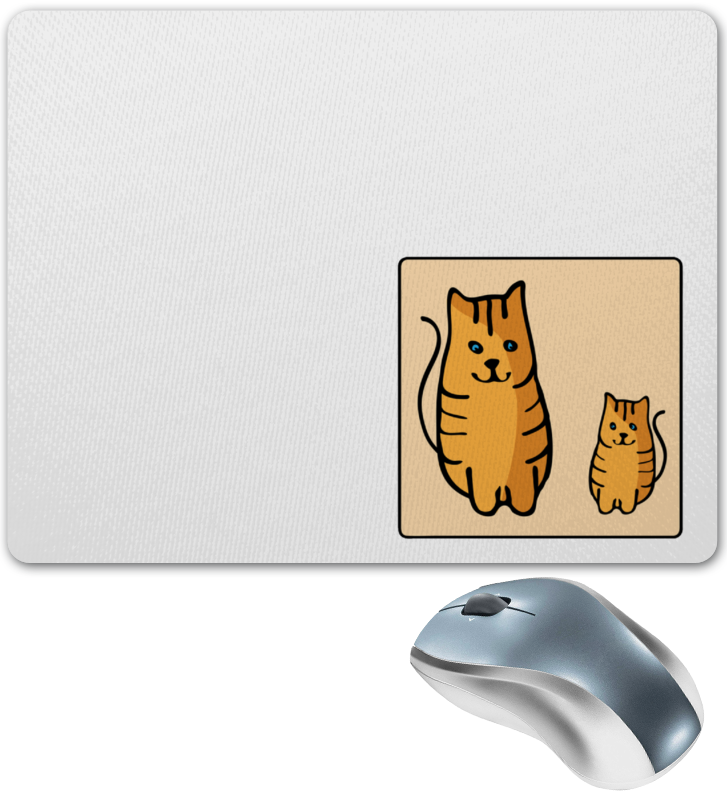 Коврик для мышки Printio Два котика, смотрящие друг на друга цена