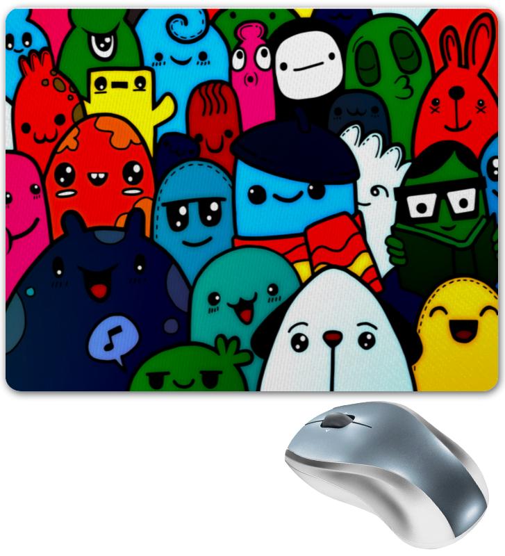 Коврик для мышки Printio Цветные смайлы чехол для карточек смайлы дк2017 096