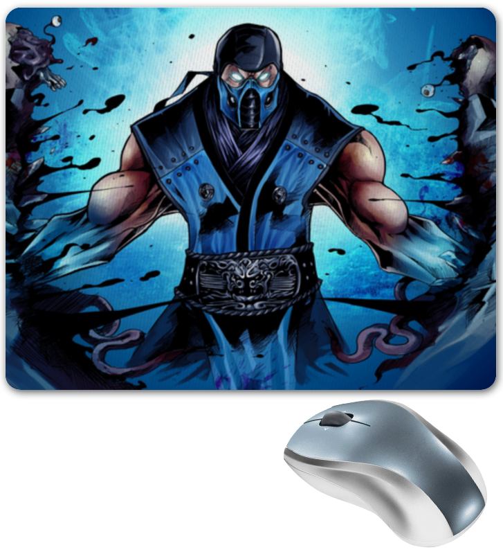 Коврик для мышки Printio Mortal kombat x (sub-zero) видеоигра для ps4 mortal kombat x