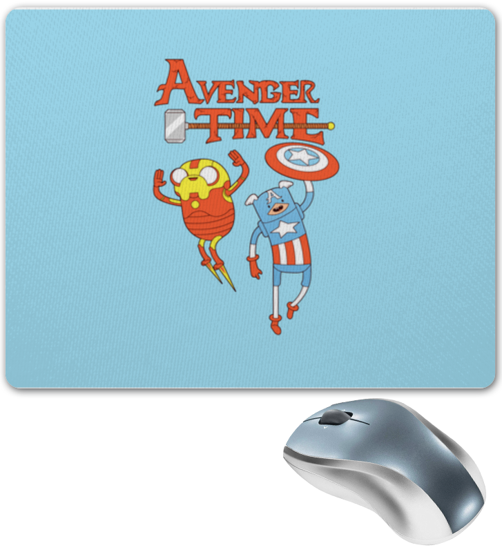 Коврик для мышки Printio Avenger time! adventure time finn and jake фигурка scalers adventure time finn 5 см