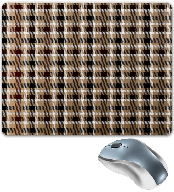 Коврик для мышки Printio Коричневая клетка клин коричневая краска для синтетики