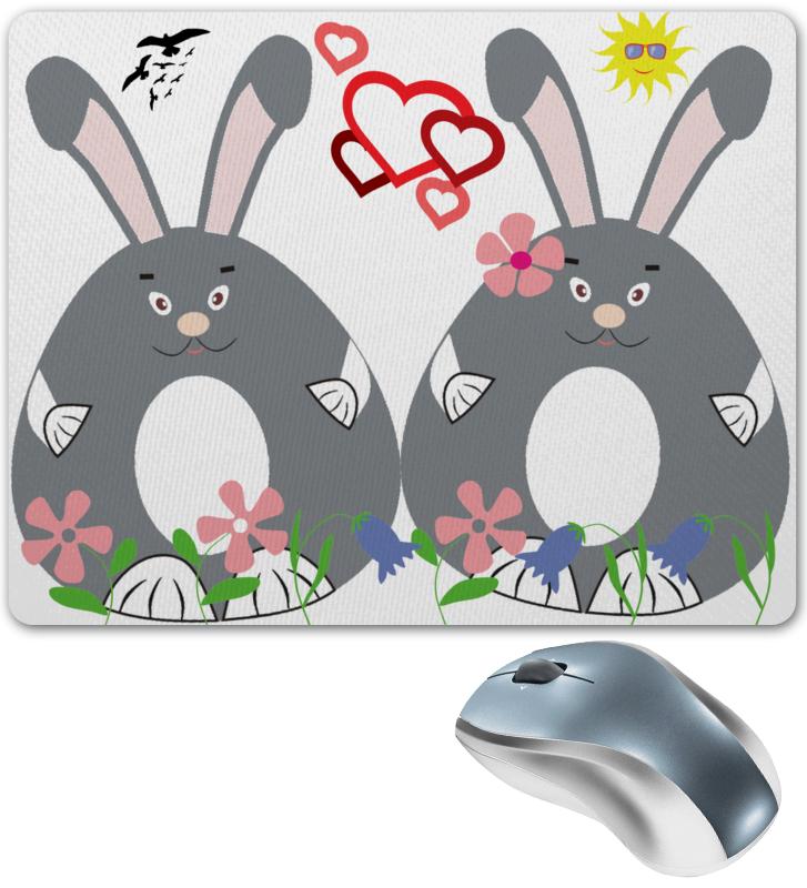 купить Коврик для мышки Printio Влюбленные зайки по цене 450 рублей