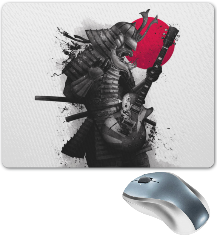 Коврик для мышки Printio Самурай с гитарой цена и фото