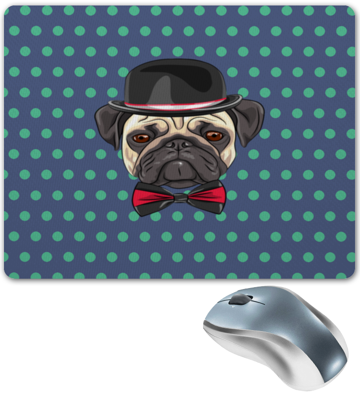 Коврик для мышки Printio Пес в шляпе коврик для мышки printio пес летчик
