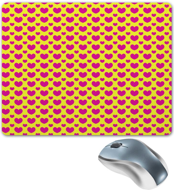 Коврик для мышки Printio Розовые сердца