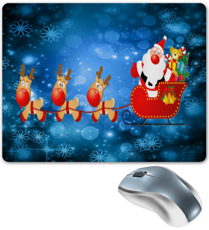 Коврик для мышки Printio Дед мороз мягкие игрушки woody o time плюшевый дед мороз