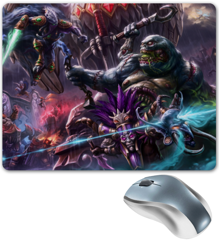 Коврик для мышки Printio Heroes of the storm steelseries qck heroes of the storm черный синий
