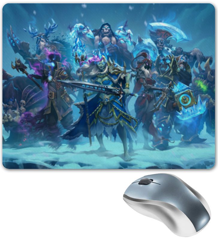 Коврик для мышки Printio Knights of the frozen throne чехол для iphone 6 глянцевый printio knights of the frozen throne
