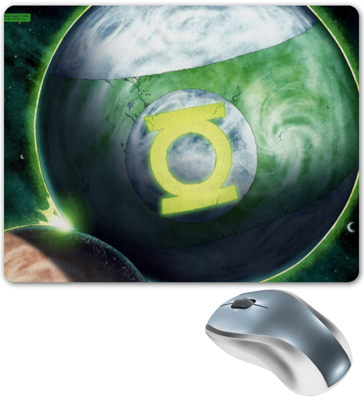 Коврик для мышки Printio Зеленый фонарь/ green lantern цена и фото